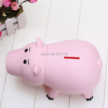 "8""20cm Hamm Piggy Bank Pink Pig Coin Box PVC Model Toys For Children"