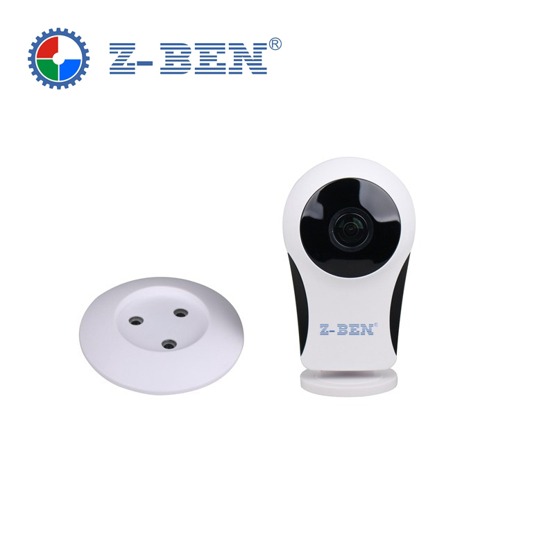 OEM ONVIF IP Camera 180 Degree Wifi Panoramic Wireless Surveillance Camera 2 Way Audio Motion Detection Alarm SD Card Record<br>
