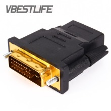 VBESTLIFE Audio Cables Gold Plated DVI 24+1 to HDMI Convert female to male Adapter Converter for HDTV PC PS3 Projector TV Box