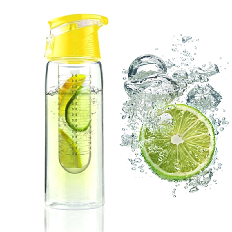 Fashion 1PC High Quality Travel Sport Juice Maker Layer Creative Solid Color Water Bottle(China)