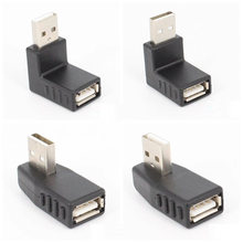 Left/right/below/above angle 90 degree USB 2.0 A Male Female Adapter Connecter for Laptop PC Durability and Stable Performance