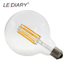 LEDIARY 10PCS G125 E27 LED Filament Bulb 110V/220V 10W Retro Edison Bombillas D125*H175mm Global Bubble Light for Pendant Lamp