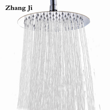 25cm big round rainfall shower head Bathroom fixture 10'' high quality stainless steel waterfall shower nozzle New shower ZJ051