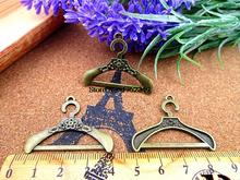 12pcs 38*28MM Antique bronze hanger charm clothes stand charms pendants