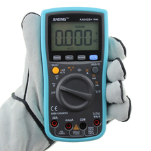 AN860B+ 6000 counts LCD Digital Multimeter DMM with NCV Detector DC/AC Voltage Current Meter Resistance Diode Capaticance Tester(China)