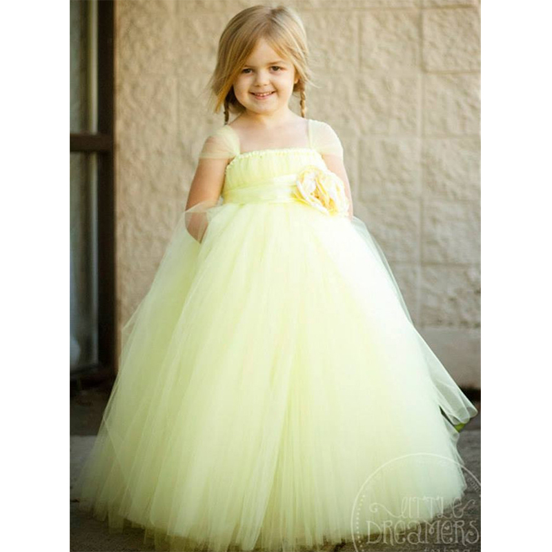 Flower Girl Princess Party Tutu Wedding Dresses Ankle Length Ball Gown Baby Girls Fluffy Tutu Dress For Birthday Party <br>
