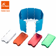Fire Maple Outdoor Camping Cooker Gas Stove Foldable Colorful Aluminum proof Windshield Screen Ultralight 8-Plates Wind Shield(China)
