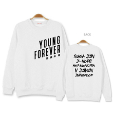 2017 Young Forever Style  BTS Korea star team fashion casual streetwear man and women fleece hoodies sweatshirt Free shopping