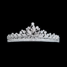 Factory direct bride wedding dinner ladies Hair Barrette Tiara Crown Alloy Accessories Show