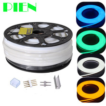 12V Neon lights Flex Tube Lamp RGB 50m 100m Waterproof for Christmas Garden home Decor RGB Cold White by DHL(China)