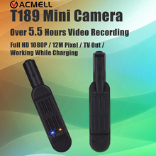 T189 Mini Camera Full HD 1080P Micro Camera Pen Camera 12MP Kamera Video Voice Recorder Mini Camcorder Camara Digital HD DVR Cam