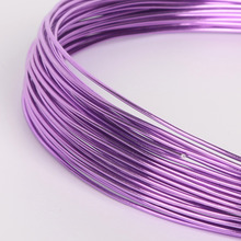 Fashion Anodized Aluminum Soft Versatile Floristry Painted Purple Metal Wire DIY Jewelry Handmade Bracelet Making Craft 1-2.5mm