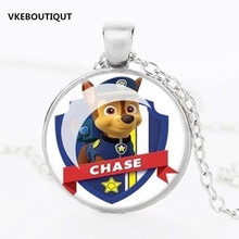 Hot! Fashion Cute Pug Puppy Dog Art Photo Glass Pendant Key Chains Link Keychain Jewelry