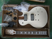 Unfinished DIY guitar LP model Guitar kits One piece Body Free shipping