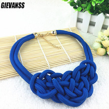 Hot Sale Cotton Necklace Shourouk Statement Necklace Choker Necklaces & Pendants Women Gift Kolye Fashion Jewelry(China)