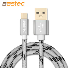 Wholesale 10pcs/ Micro USB Cable with Metal Shell Gold-plated Connector Braided Wire for Samsung / Sony / Xiaomi / Android Phone