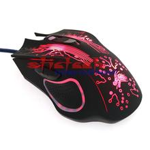 by dhl or ems 50pcs LED Optical 6 Buttons 6D USB Wired Gaming Mouse ProGamer Computer Mice Adjustable USB Wired Gaming Mouse(China)