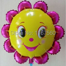 free shipping 18 inch Sunflower Aluminum Balloons Foil Balloons Wedding Birthday Party Large Balls Christmas Gifts baby toys