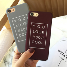 Buy Lovers English Quotes Messages Phone Case iphone 8 6 X Case iphone 6S 7 7S Plus Cases Hard PC Matte Cover Soft TPU Capa for $1.04 in AliExpress store