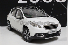 New White 1/18 Peugeot 2008 SUV Diecast Model Car Alloy Toy Model Sport Combi Sport Wagon 3 Colors
