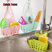 QuickDone Creative Cleaning Water Sink Double Decker Hanging Basket Shelving Water Faucet Laundry Basket Kitchen Tool CKH02