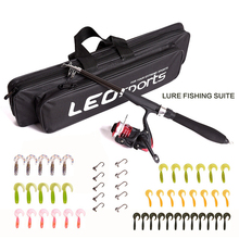 Buy Telescopic Sea Spinning Fishing Reel Rod Combo Set Fly Fishing Lure kit Fishing Tackle Tools Travel Fishing Bag Accessories for $31.97 in AliExpress store