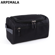 ARPIMALA Waterproof Men Cosmetic Bag Hanging Makeup Bag Nylon Travel Organizer Large Necessaries Make Up Case Wash Toiletry Bag(China)
