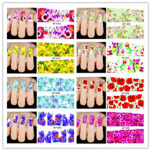 New 10 Sheets French Design Water Transfer Tips Nail Art Decorations Nail Sticker Manicure Nail Decal Nail Tools(China)