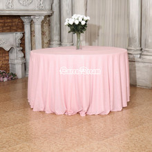 "17 COLORS Pink 120""  round Sequin TableCloths Christmas Birthday Wedding Table Decoration Sequin Elegant Handmade Table Cover"