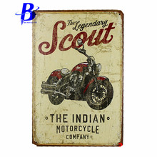 custom neon sign THE INDIAN MOTORCYCLE COMPANY Vintage Metal Tin Signs Retro Tin Plate Sign Wall Decoration for Cafe Bar