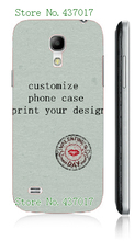 diy customize own design logo photo case hard plastic back cover case for Samsung galaxy s4 mini i9190,free shipping