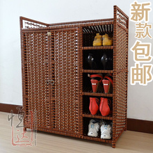 Large Capacity 40s-the brief 40s-the Wardrobe Rattan Shoe Storage Cabinet Free Shipping