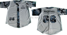 Custom Men's Team Baseball Shirts White Camo Design