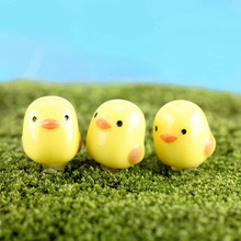Wholesale 20Pcs/Lot Cute Mini Chick Micro Landscaping Decoration Small Plastic Craft Diy Sand Table Accessories K6717(China)