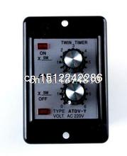 AC220V Repeat Cycle On/Off Delay Panel Relay 0-30 Min Timer Installed ATDV-Y FKS