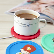 crazy hot soldier Design 3.75W USB Warmer Silicone Heat Heater creative coaster usb cup Pad for keep Milk Tea Coffee warming
