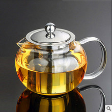 CJ254 Best Heat Resistant Glass Tea Pot Flower Tea Set Puer kettle Coffee Teapot Convenient With Infuser Office Home Teacup