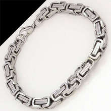 Moorvan stainless steel bracelet men punk rock jewelry pulseira masculina byzantine chain link bracelets for women VB105