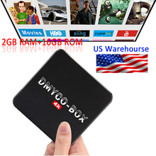 Android TV BOX DMYCO-BOX Amlogic S905 Cortex A53 Android 5.1 2GB 16GB Smart TV BOX 2.4G/5GHz Dual WiFi BT4.0 HDMI 4K Set Top Box(China)