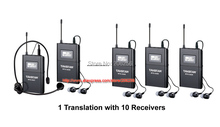 Wireless Acoustic Transmission System Tour Guiding Simultaneous Translation Audio-visual Eduation (1 transmitter+10 receivers)