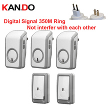 Euro/US plug bell kits 2TX+3 RX wireless doorbell Waterproof 380 Meter door chime 48 melodies door ring digital signal door bell
