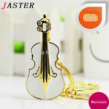 JASTER Beauty crystal  guitar Model Usb flash drive 8GB 16GB 32GB usb 2.0 memory stick pendrive gift for lovers 3 colors