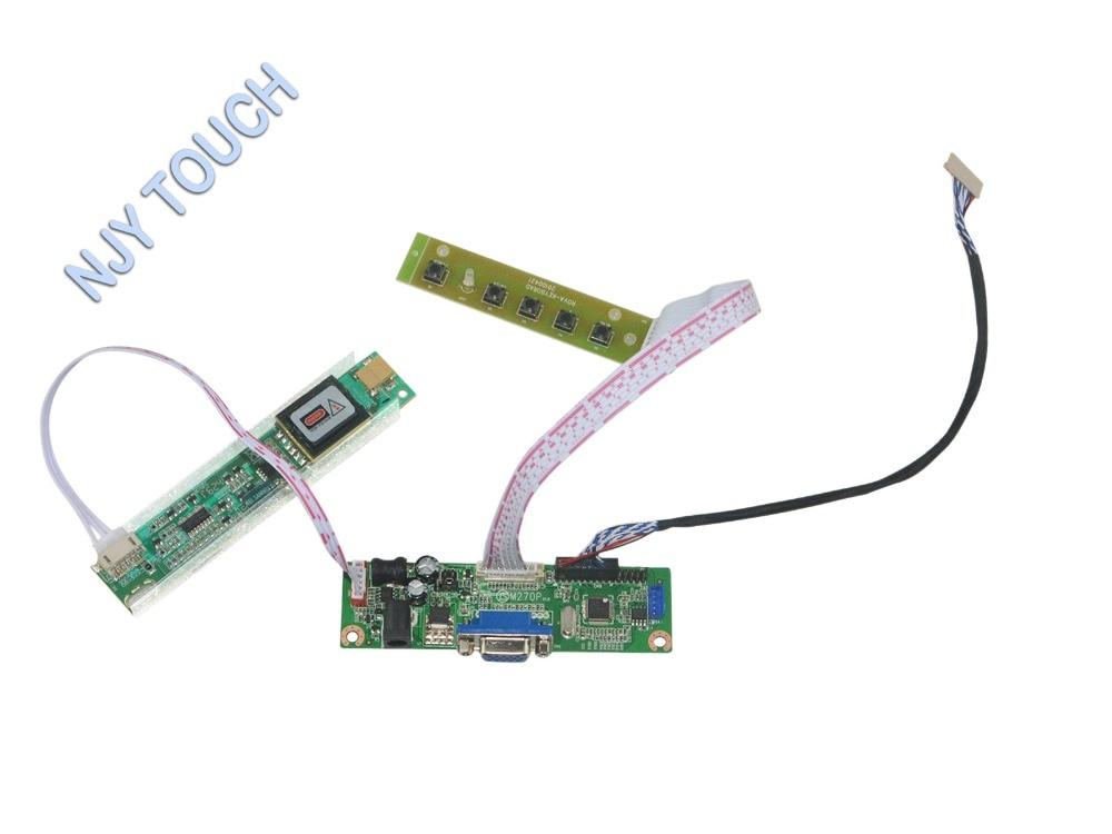 V.M70A VGA LCD Controller Board  For 12.1 inch 1400x1050 SXGA+ HV121P01-100 CCFL LVDS Motheboard Kit with 5-KEY Keypad Easy DIY<br><br>Aliexpress