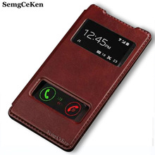 Buy SemgCeKen luxury flip leather case Sony Xperia Z2 Z 2 original hard view window mobile phone back cover coque sony z2 for $3.53 in AliExpress store