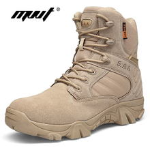Classic Genuine Leather Men Boots Tactical 캠핑 Desert Boots Military Army Boots 숨 눈 Ankle Boots Botas 보낸 Zapatos(China)