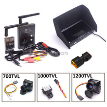 FPV Combo System 5.8Ghz 600mw 48CH TS832 Transmitter RC832 Plus Receiver 7 inch LCD 1024 x 600 Monitor 700TVL / 1200TVL Camera(China)