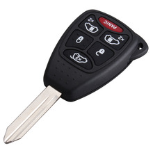 New  Remote 6 ( 5 + 1 ) Buttons remote car key shell cover For Dodge For Chrysler Fob case with Pad
