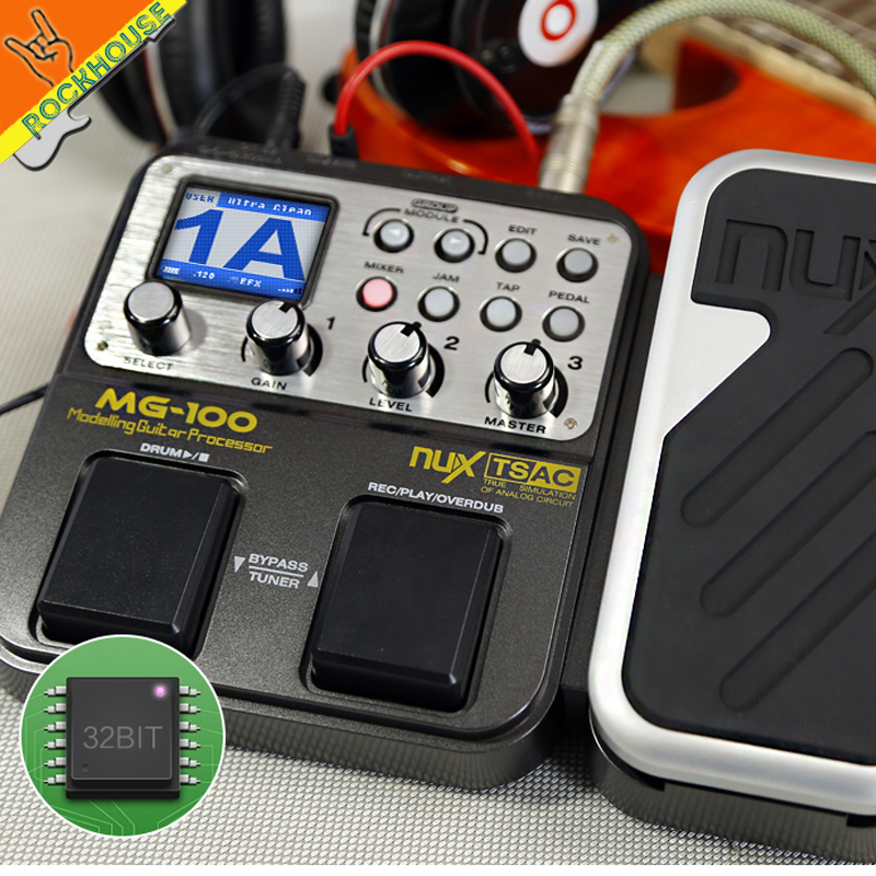 NUX MG-100 Guitar Modeling Processor Guitar Multi-effects Processor 58 Effect Models Top Quality free shipping<br><br>Aliexpress