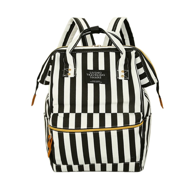 2017 Stripe Women Backpacks For Teenage Girls Cute Girl School Backpack For School College Bag Women Lightweight Ring Backpack<br><br>Aliexpress