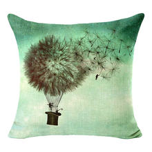 Dandelion TOTORO Skull Wolf Cushion Elephant Throw Pillow Flower Skull Paisely Cushion Indian Style Sofa Decorative Pillows H053